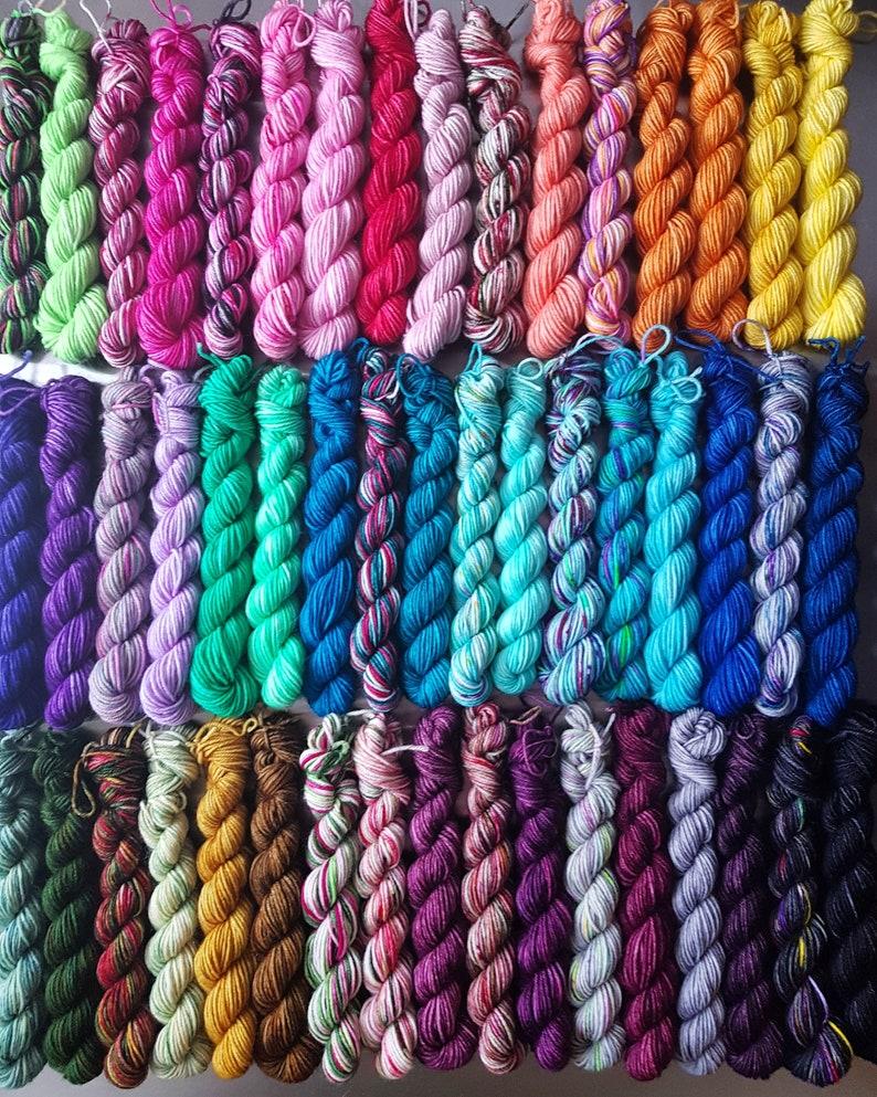 Blanket Love x50 Colours 10g Mini Micro Skeins Sock Yarn image 1