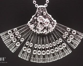 Zimor - Diatomea Fan Pendant I