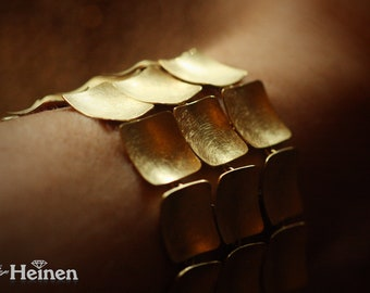 Royal bracelet in solid 750 yellow gold - Hand made