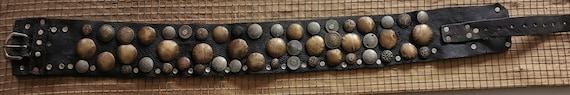 antique Leather belt with Cherifien/ Empire coins