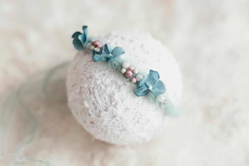 Newborn floral wreath. Newborn headband Childrens photography Baby photography items Baby headband