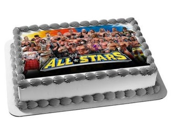 Marvelous Wwe Cake Toppers Etsy Personalised Birthday Cards Cominlily Jamesorg