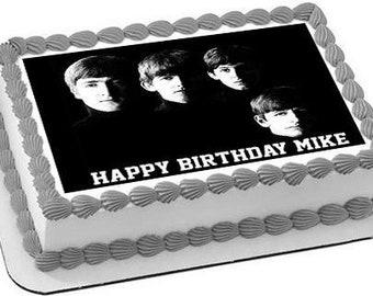 Groovy Beatles Cake Etsy Funny Birthday Cards Online Alyptdamsfinfo