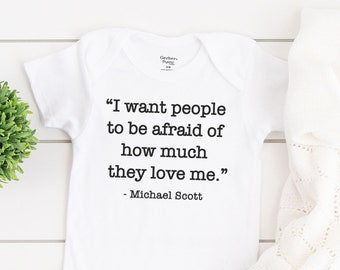 The Office Baby Announcement The Office Michael Scott Quote Onesie The Office Customizable Baby Onesie