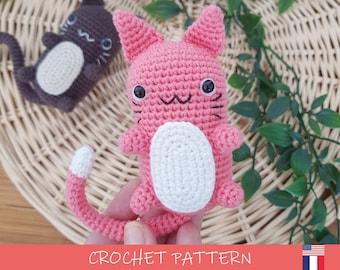 "Cat Crochet Pattern | DIY Amigurumi ""Chaplaplat"" | Illustrated tutorial, digital PDF (English / French) by Potigurumi"