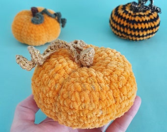 Velvet pumpkin crochet, fall home decoration