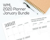 WML 2020 Planner Inserts - A5 January Bundle