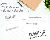 WML 2020 Planner Inserts - A5 February Bundle
