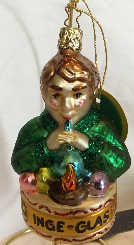 "Vintage Inge Glas of Germany ""the apprentice"" blown glass ornament"