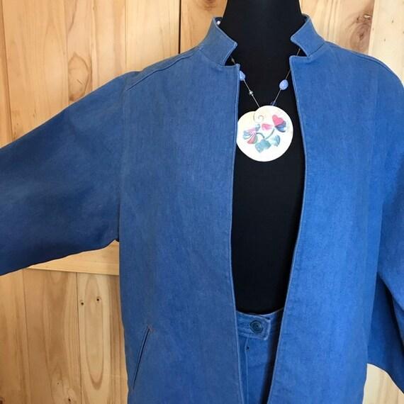 1980's Koret City  Blues  2 pc pant suit - image 2