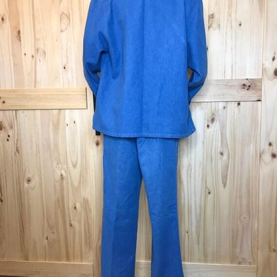 1980's Koret City  Blues  2 pc pant suit - image 8