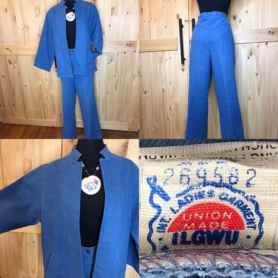 1980's Koret City  Blues  2 pc pant suit - image 1