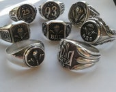 Military Airborne Rings Mens Signet 925 Sterling Silver Paratrooper Signs on Rings Signet Army of Ukraine Airborne Division Soldiers