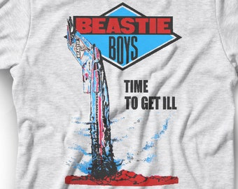 B Boys T-shirt ~ Time To Get Ill ~  Airplane Jet Old School Hip Hop ~ Authentic 80s Graphic ~ Band Shirt ~ Mens Womens  Kids Boys Girls