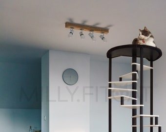 Cat Tree, 18 Step Spiral Tower, Best Cat Furniture Idea, Cat Climbing Exercise Ladder (2021)