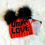 Umph Love, Umphrey's McGee, Hat - Neon Orange, Black, Faux Fur Pom Pom