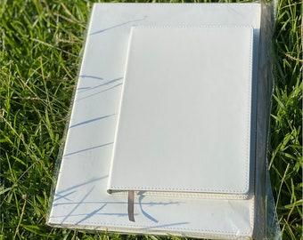Sublimation MATTE PU Leather Notebook Multiple Sizes, sub blanks