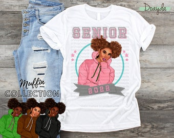 Personalized Class Of 2022 Grad Tee, Senior 2022, Muffin Collection