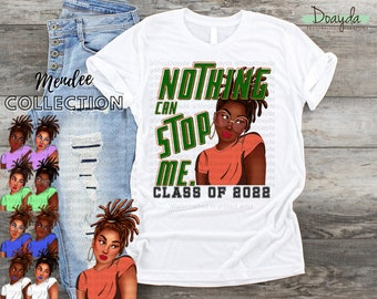 """Personalized """"Nothing Can Stop Me"""" Class Of 2022 Grad Tee, Senior 2022, HBCU Made, HBCU Grad, Mendee Collection"""