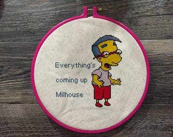 Everything's coming up Milhouse Cross Stitch Pattern