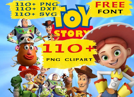 110 Toy Story Svg Clipart Cricut Png Instant Download Etsy