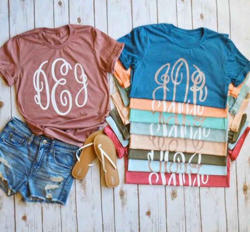 monogram T-shirt monogram monogram tee