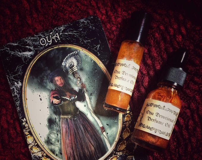 Orisha Oya Devotional Perfume Oil- Honor the Powerful Goddess of Female Leadership, Transformation & Great Mother of the Witches