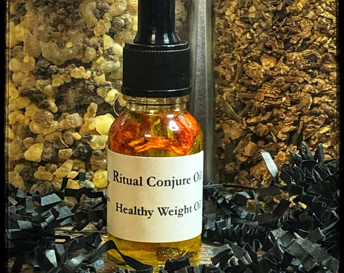Healthy Weight Ritual Conjure Oil- Hoodoo Weight-loss, Weight Gain, Workout Motivation, Craving Control