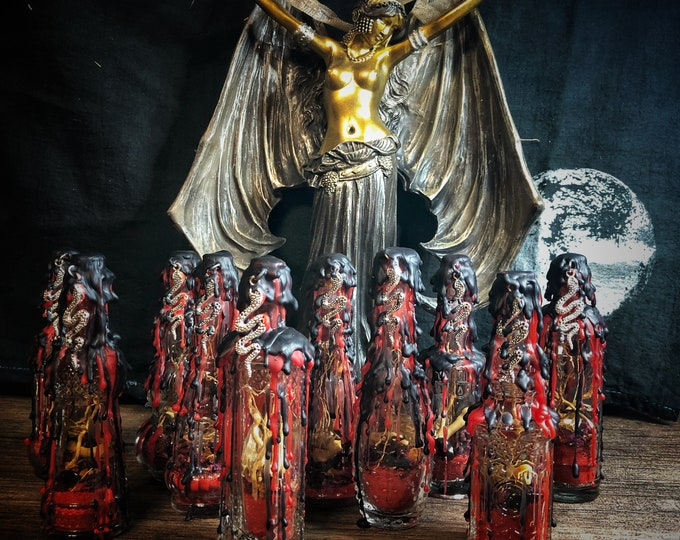 Lilith Devotional Protection Bottle- Decorative Witch Bottle- Dark Goddess Worship- Protection, Love, Lust, Feminine Power