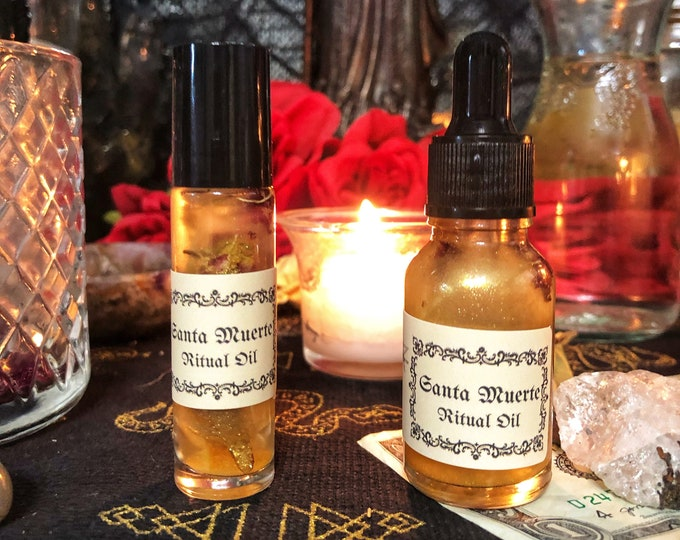 Santa Muerte Ritual Perfume Oil- Manifest Oil for Healing, Love, Success, Money & Protection
