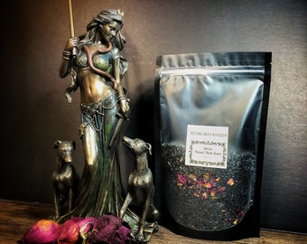 Hekate Ritual Bath Salts- 12 oz - Cleansing Soak for Before or after Ritual- Also Available In Activated Charcoal Free