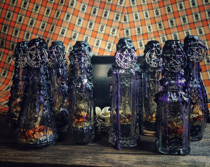 Witch Protection Bottle- Psychic & Physical Protection for Witches, Occultists and Psychics