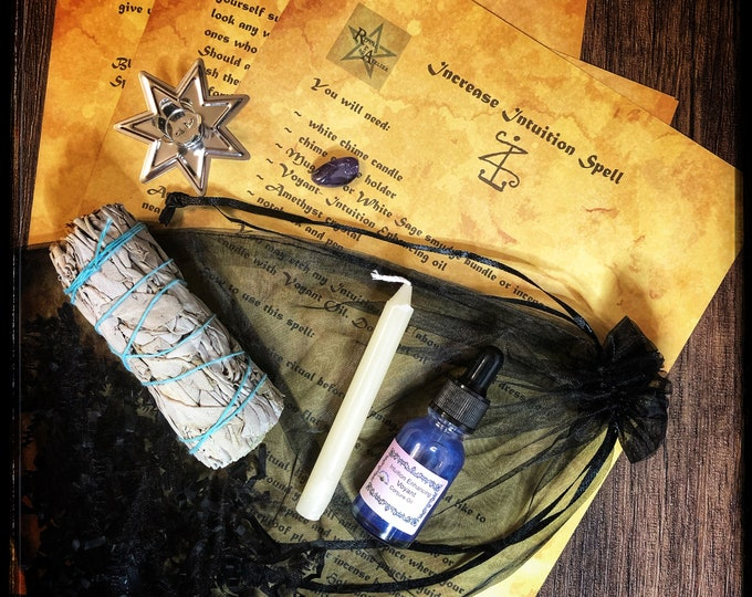 Increase Intuition Spell Kit- Full Ritual Kit with Tools Needed To Perform Spell-Enhance Intuitive Abilities-For Empaths, Clairvoyants