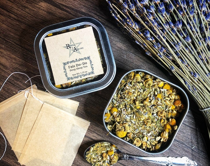 Fais Do-Do Sleep Tea- Loose Herbal Tea Blend- Organic- Handcrafted with love, infused with magick-Enhance Sleep