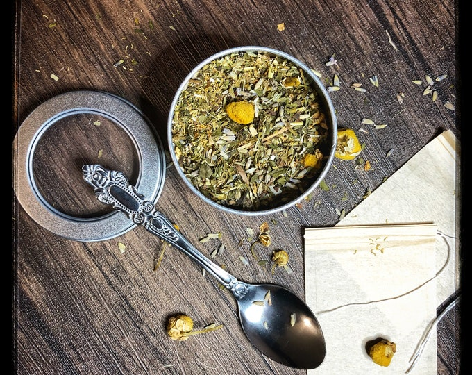 Ordo Mortis Psychic Dream Tea- Loose Herbal Tea Blend- Organic- Handcrafted with love, infused with magick- Enhance Sleep & Intuitive Dreams