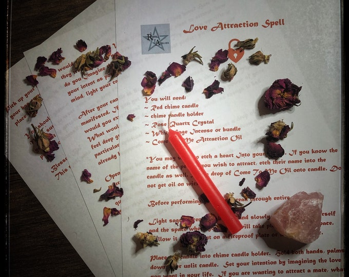 Love Attraction Spell- Downloadable Book of Shadow Love Spell Pages