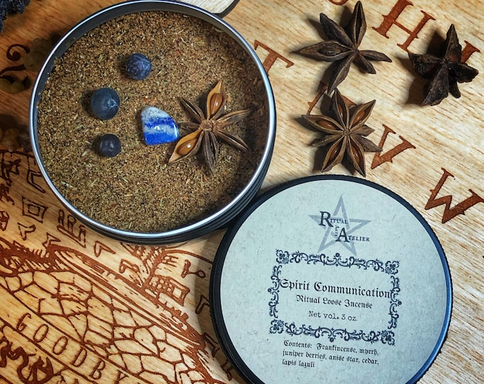 Spirit Communication  Ritual Loose Incense- Finely Ground, Handcrafted Incense To Aid in Communing with Ancestors & Spirits