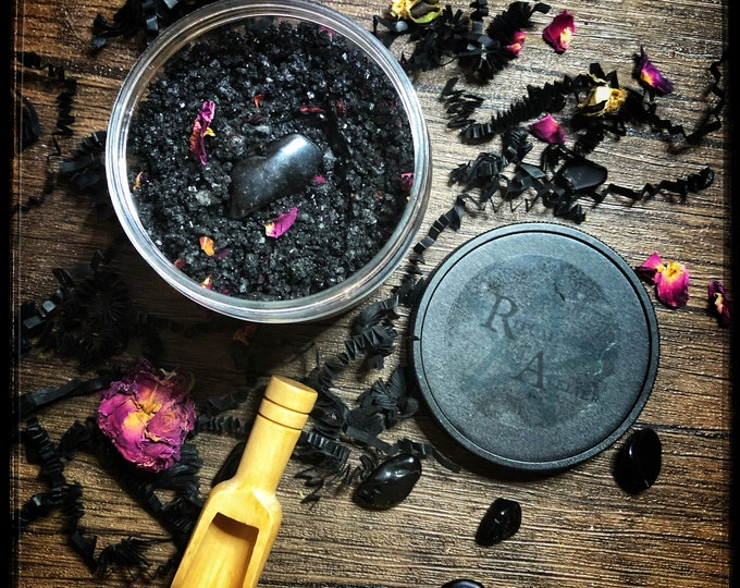 Hekate Ritual Bath Salts- 8 oz - Cleansing Soak for Before or after Ritual- Available In A Shower Scrub & Activated Charcoal Free