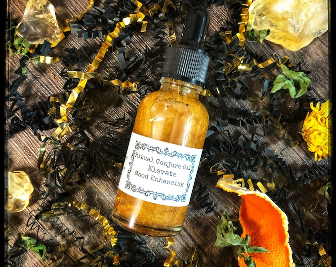Elevate Mood Enhancing Ritual Conjure Oil- Promotes Positivity, Recovery from Grief, Sadness & Depression- Improves Mood Swings