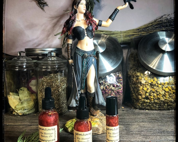 The Morrigan Devotional Perfume Oil- Handcrafted In Dedication to The Morrígan