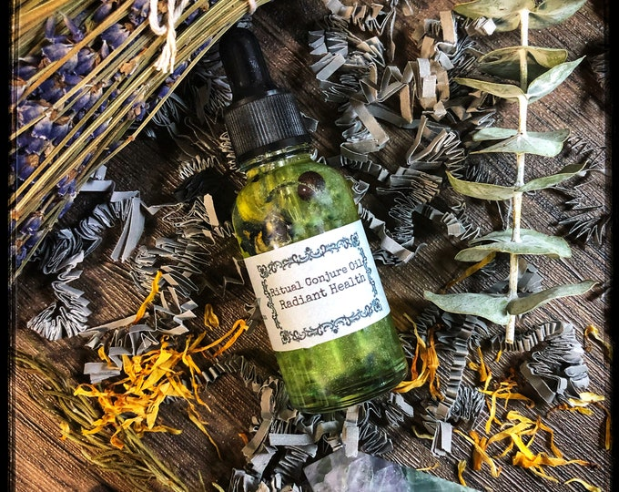 Radiant Health Ritual Conjure Oil- Promotes Good Health, Recovery from Illness, Disease & Injury, Positive Mental and Spiritual Well-Being