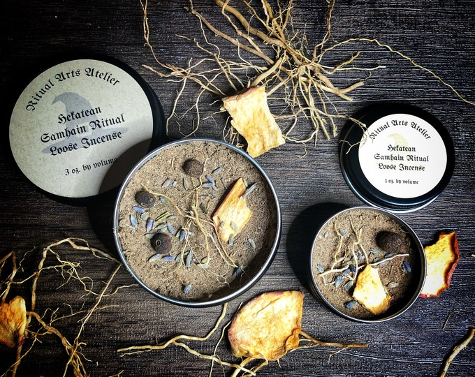 Hekatean Samhain Ritual Loose Incense- Finely Ground, Handcrafted Incense To Burn During Samhain Rituals & Ceremonies