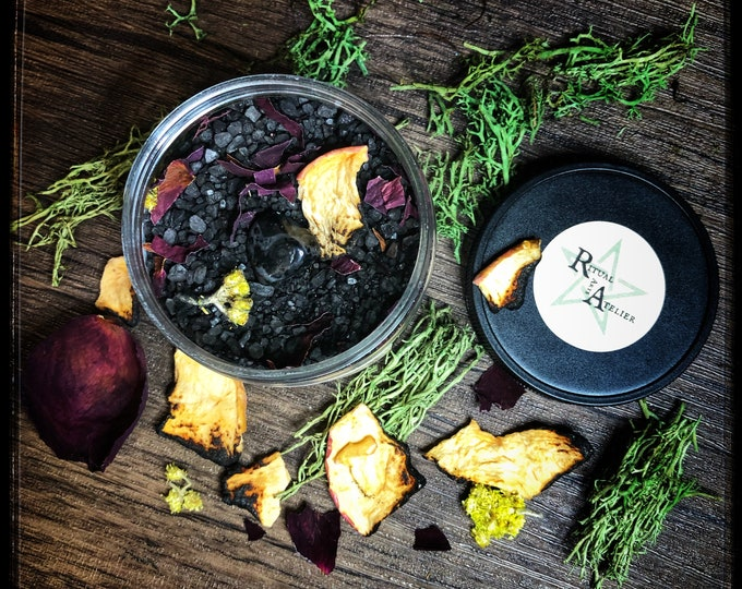 Lilith Devotional Ritual Bath Salts- 8 oz - Evoke The Dark Goddess Lilith- Also Available in Activated Charcoal Free