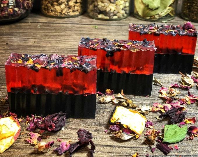 Lilith Devotional Ritual Bath Soap- 4 oz Bar- Honey Infused Soap- Love & Lust Attraction