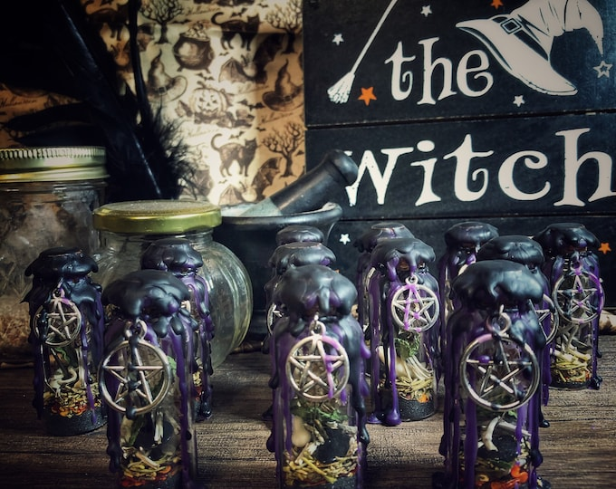 Mini Protection Witch Bottle- 20 ml- Protect Against Hexes, Evil Entities, and Negative Energies
