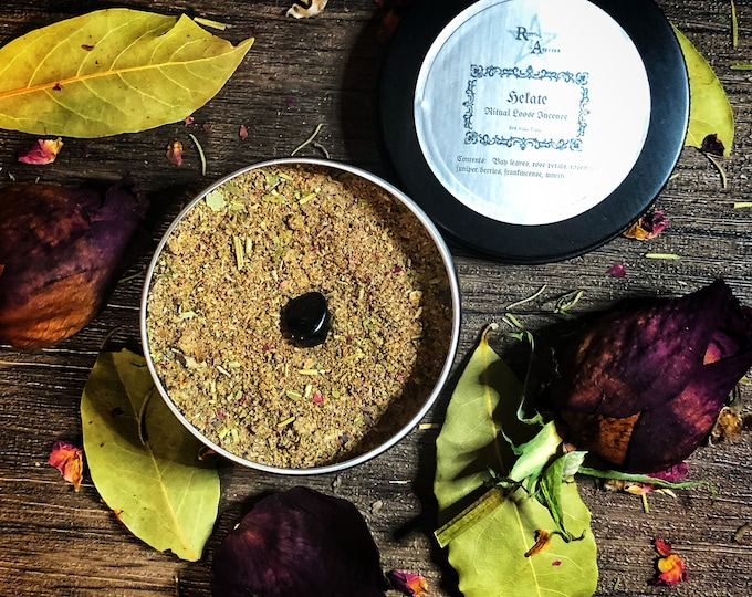 Hekate Ritual Loose Incense- Finely Ground, Handcrafted Incense for Ritual Worship of the Divine Dark Goddess Hekate