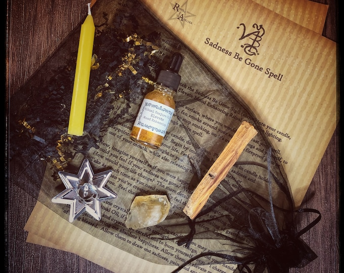Sadness Be Gone Spell Kit- Full Kit of Ritual Tools Needed To Perform Spell- Release Feelings of Grief & Sadness