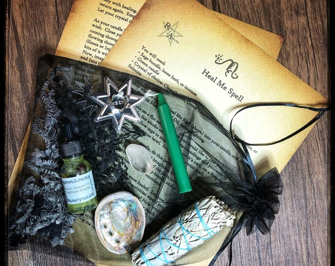 Heal Me Spell Kit- Full Ritual Kit with Tools Needed To Perform Spell- Encourages Healing For Body, Mind & Spirit- Promotes Good Health
