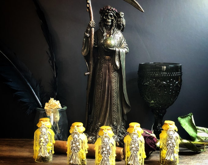 Santa Muerte Success/Money Offering Bottle With Instruction Card and Protection Petition To Santa Muerte