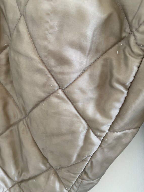 Vintage 60s/70s brown quilted nylon insulated pan… - image 3